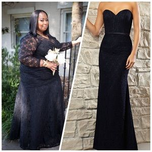 Lace Bridesmaid Dress w/ Corset Style Bodice